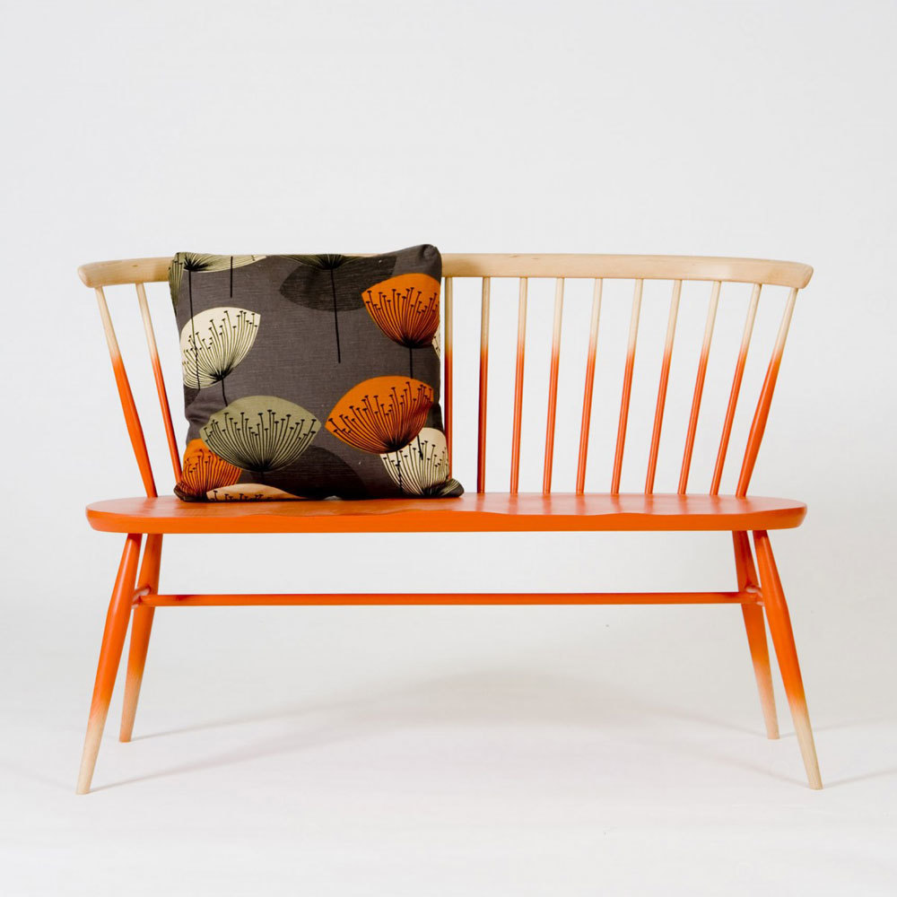 Ercol Originals Love Seat Orange