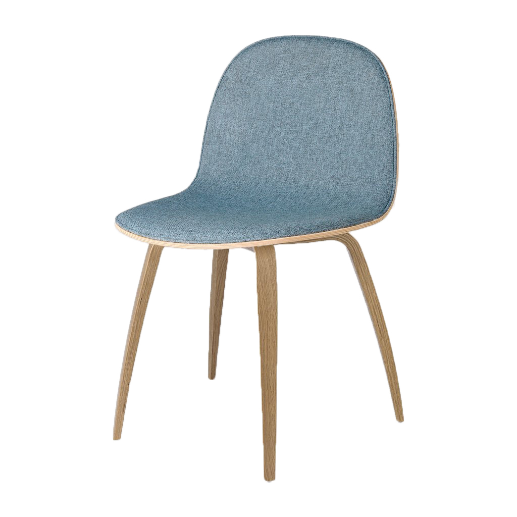 Gubi Chair 2 D Wood Base Oak White Sweep
