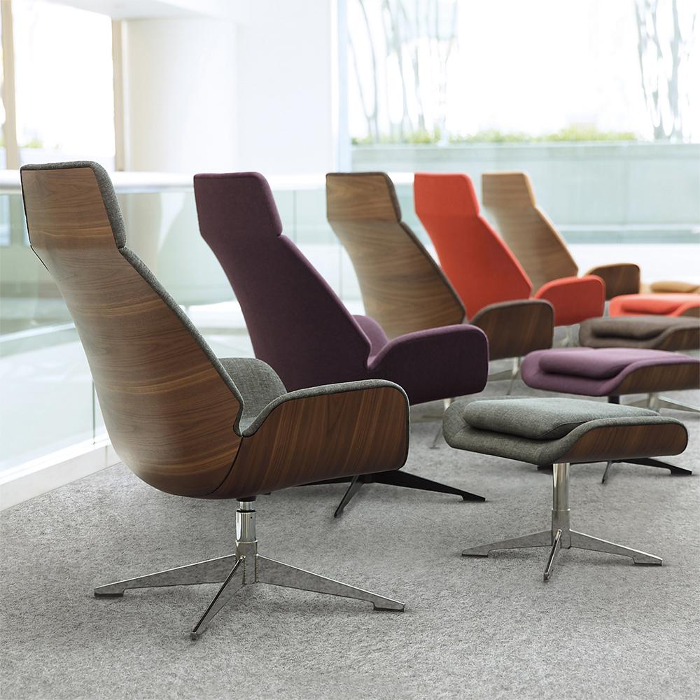 Hbf Conexus Lounge And Ottoman Colors