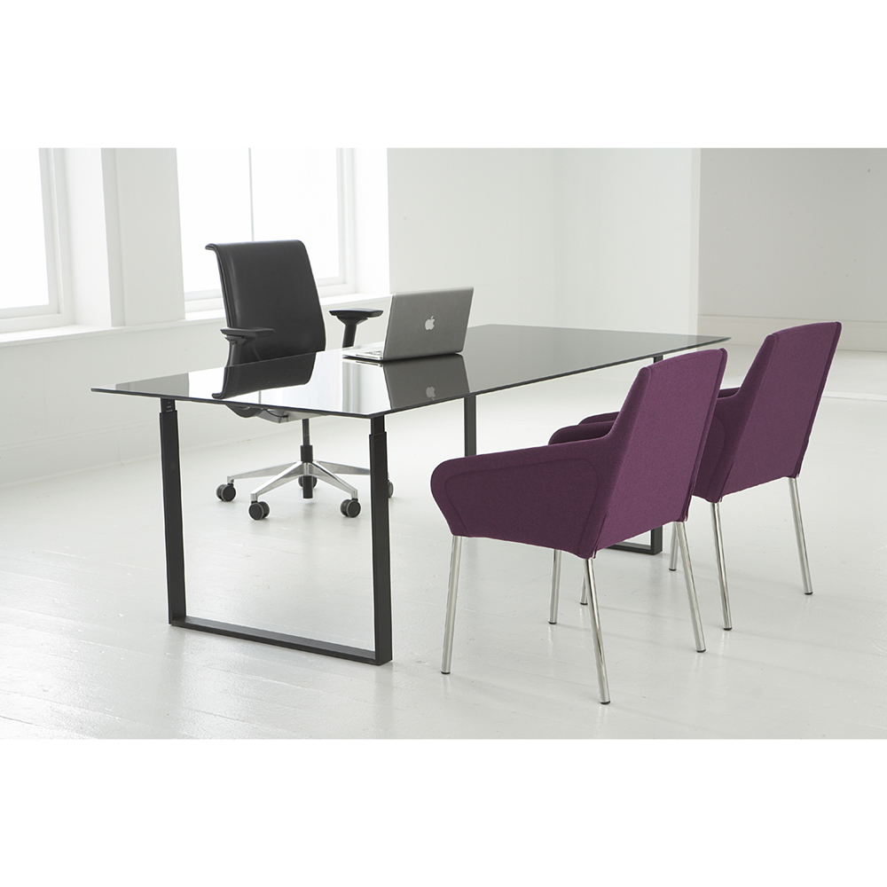 Hightower Chat Table Black Desk Setting 300Dpi