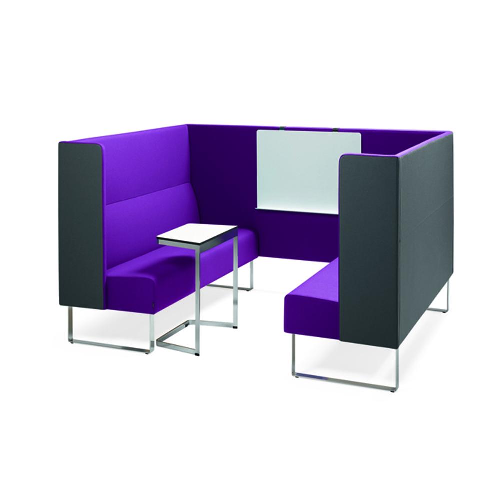 Hightower Monolite Highback Sofa Booth Write Board Laptop Table 300Dpi