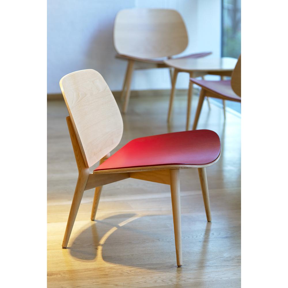 Hightower Papa Wood Seat Upholstered Installation Close Up 300Dpi