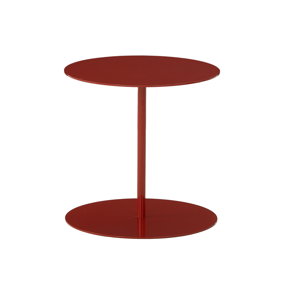 Hightower Ruby Side Table Round Red