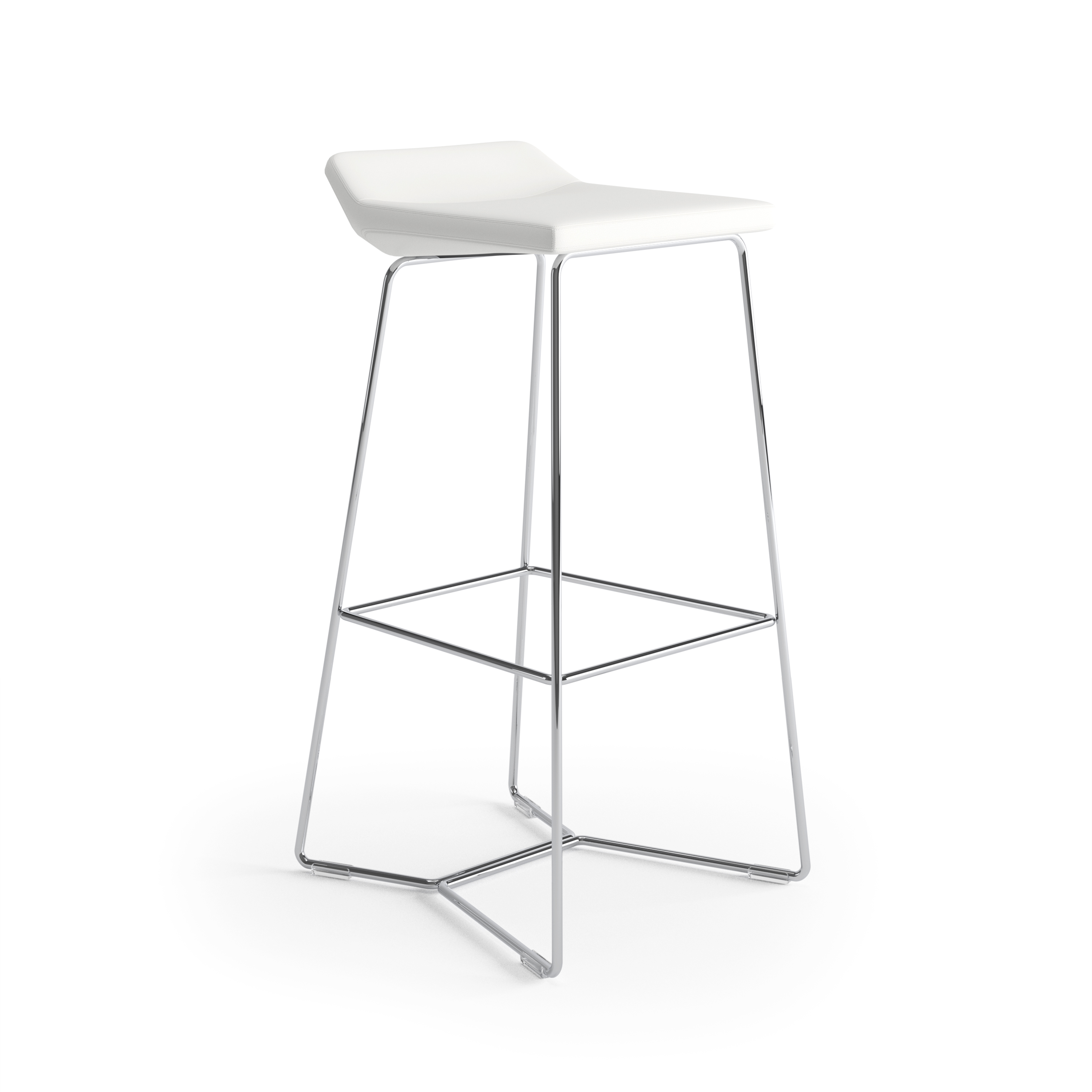 Keilhauer Cahoots Bar Stool White 3