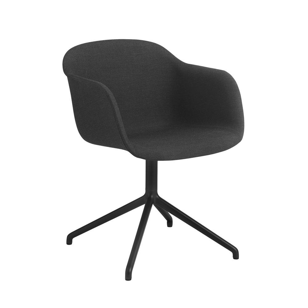 Muuto Fiber Swivelbase Upholstery Black Remix183
