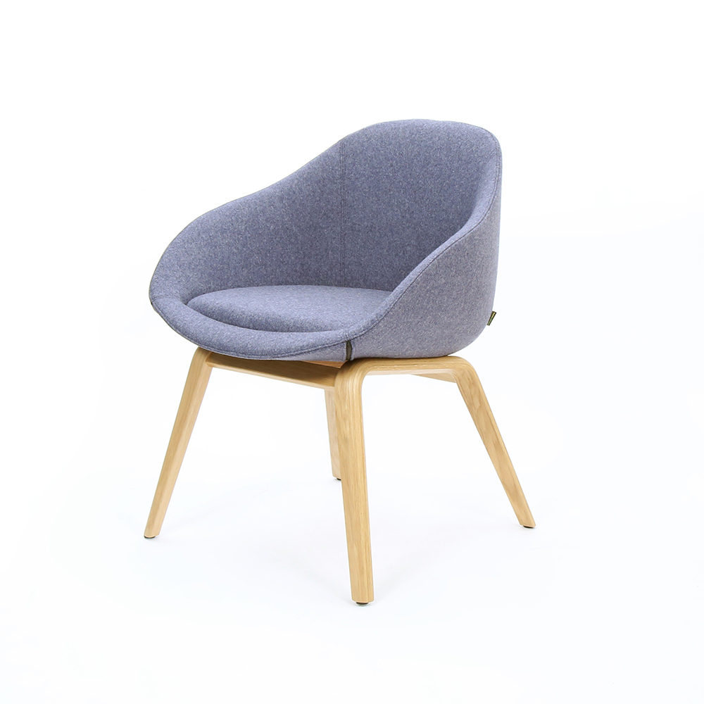 Naught Always Chair Grey Camira Blazer Oak Legs 3Qtr