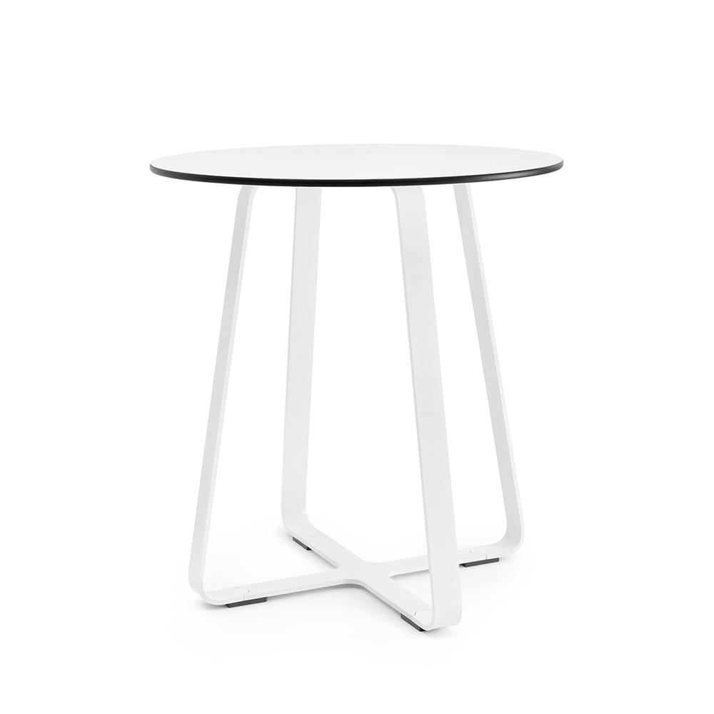 Wonderful Naught Frog Table 650 Dia White Frame Compact Laminate Top ...