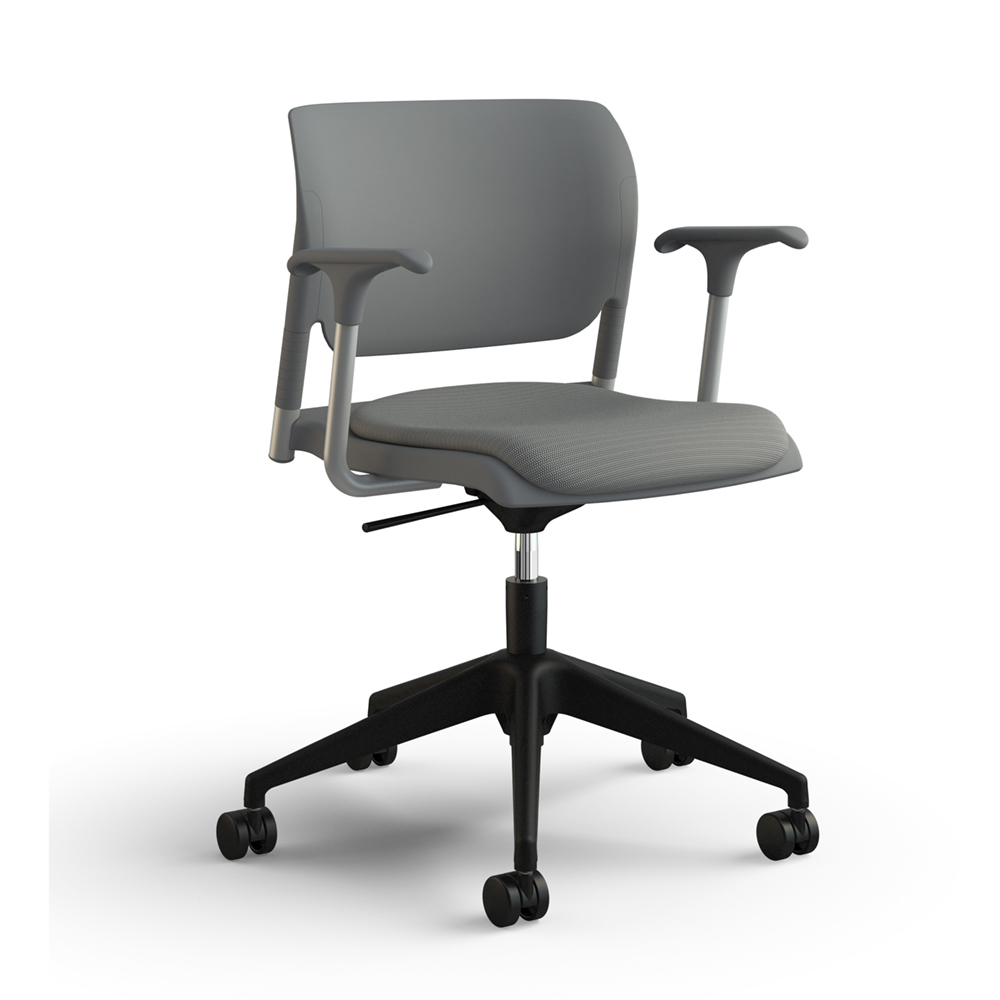 Sit On It Inflex 5 Star Base With Arms Upholstered Seat