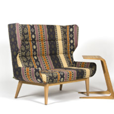 Naught Hush Sofa With Patterned Fabric And Riley Table