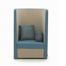 Naught Busby Chair Front View Blue Grey