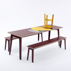Naught Fold Colour Table And Bench