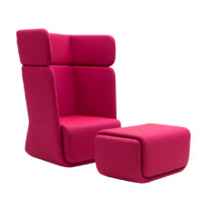 Softline Basket Chair With Footrest